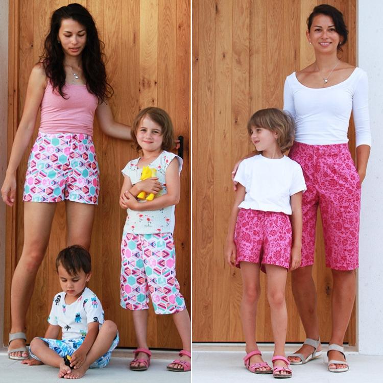 Sada střihů - střih na dětské a dámské šortky