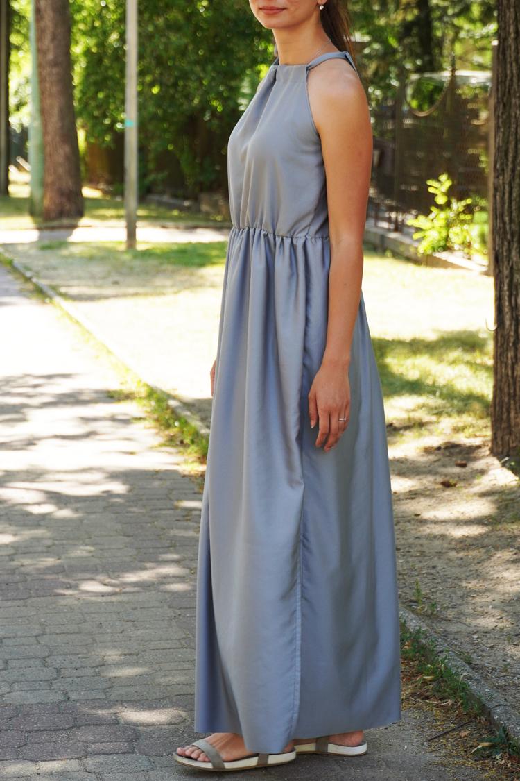 Střih na dámské dlouhé letní šaty