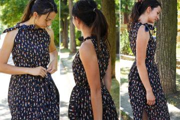 Střih na dámské šifonové šaty