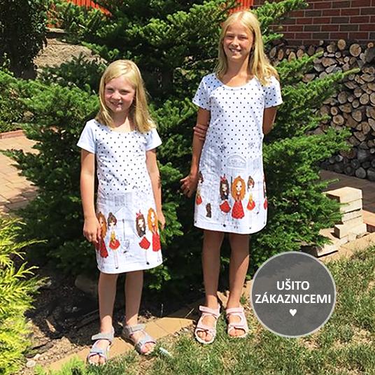 Střih na dětské šaty BASIC - fotka od Evy