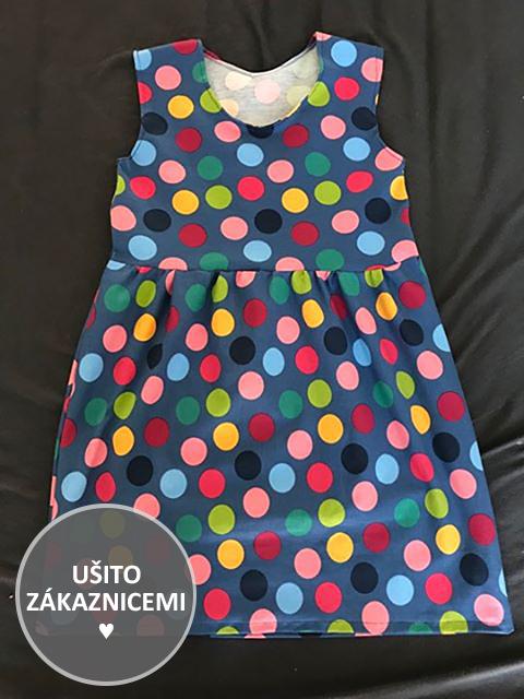 Střih na dětské šaty FLÓRA - letní varianta - ušila Lucie H