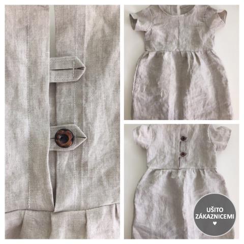 Střih na dětské šaty FLÓRA - fotka ud Zuzany M, která chtěla šaty ušít z tkaniny a tak vytvořila i zapínání pro snadné oblékání