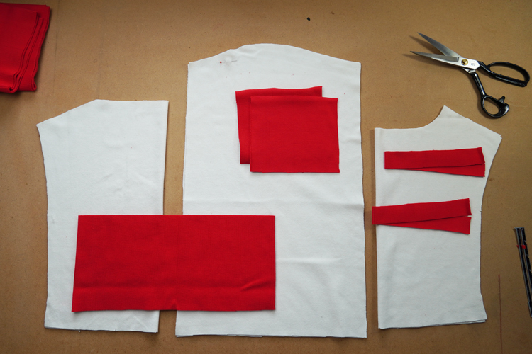 Střih na dámské krátké tričko / mikinu ve stylu crop - návod na šití