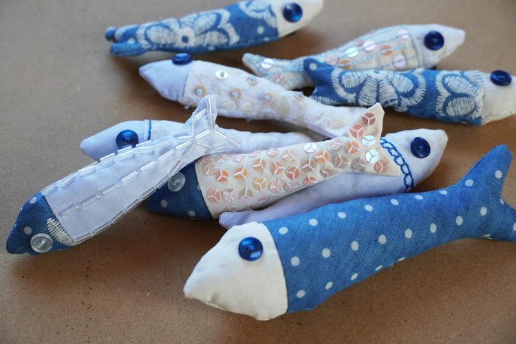 Látkové rybičky - návody a střih zdarma (závěs / dekorace / šití / DIY)