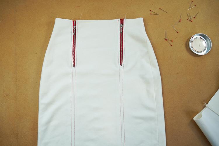 Střih na pohodlnou dámskou elegantní sukni TO THE CITY + návod na šití