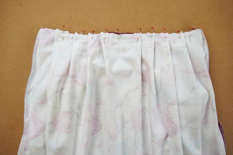 Návod jak ušít sukni se sklady
