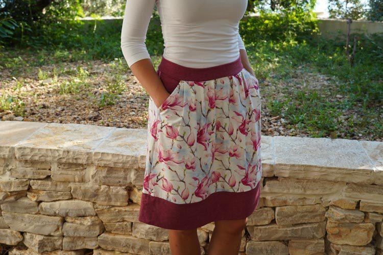 Návod jak ušít sukni se sklady (+ střih na šití - dětská a dámská sukně)