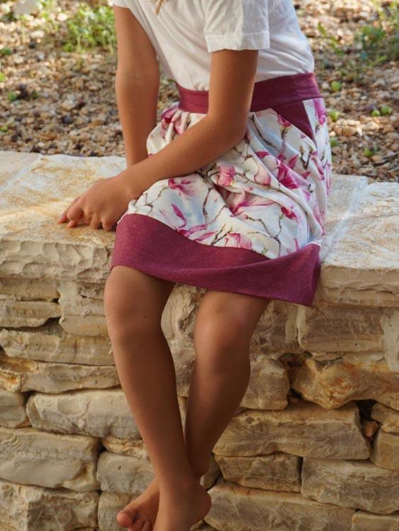 Návod jak ušít sukni se sklady + střih - dámská i dětská sukně