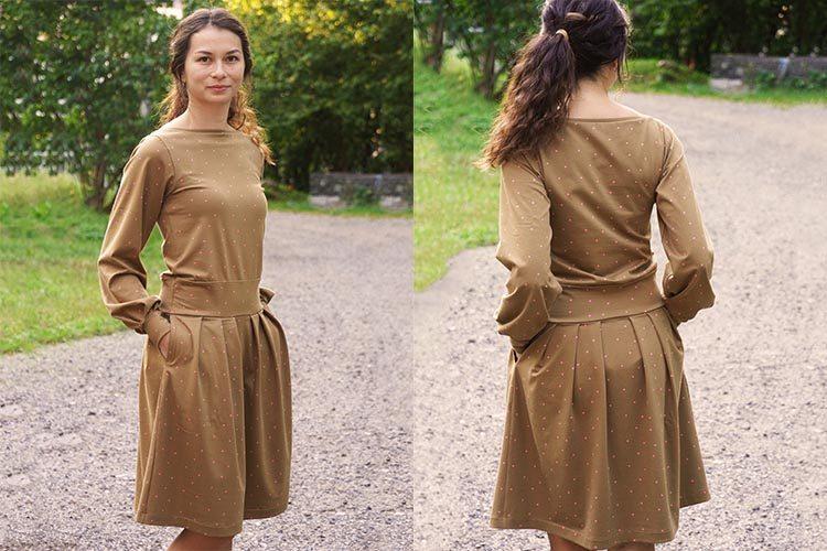 Střih na dámské šaty (+ návod na šití)