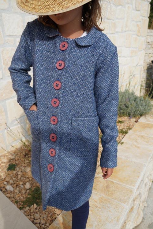 Střih na dětský kabát + návod na šití