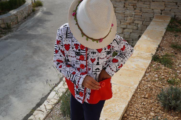 Návod jak ušít dětský kabátek + střih na šití