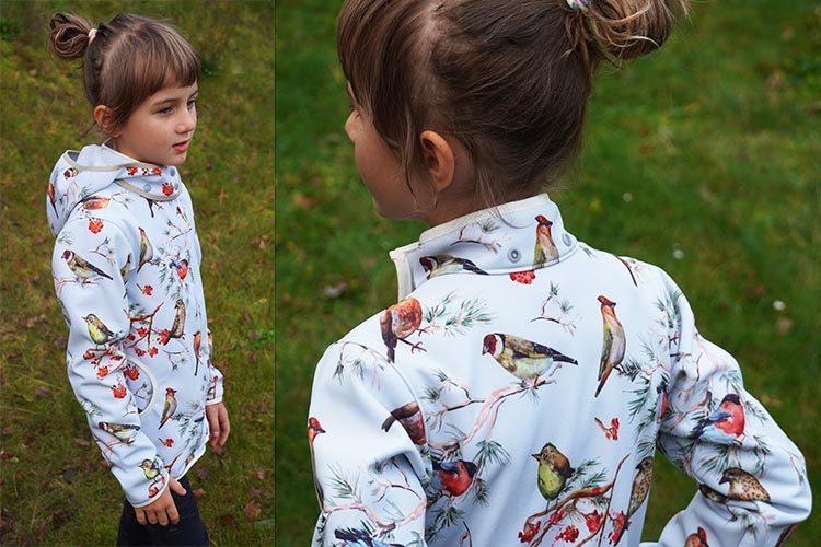 Střih - jednoduchá dětská bunda (+ návod na šití)
