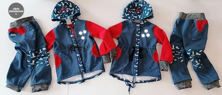 Střih - dětské softshellové kalhoty