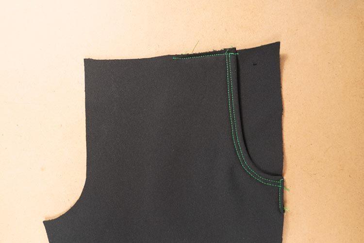 Návod jak ušít softshellové kalhoty (dětské) - rostoucí
