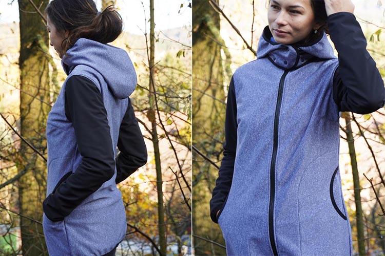 Střih - jednoduchá dámská bunda