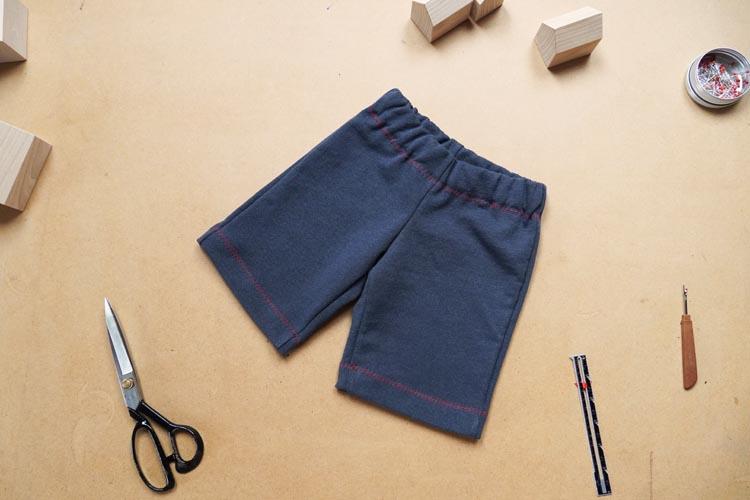 Střih - dětské šortky