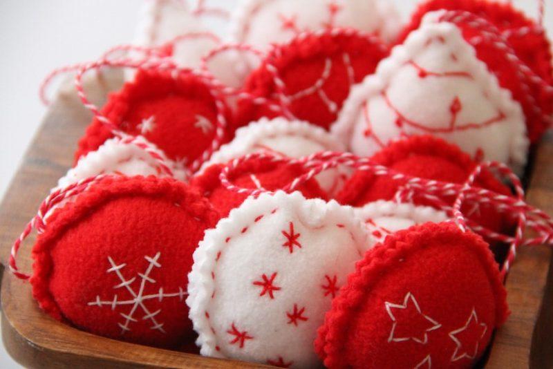 Fleecové vánoční ozdoby na stromeček