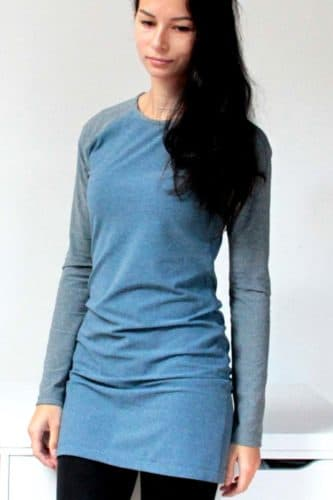 Ladies long t-shirt pattern