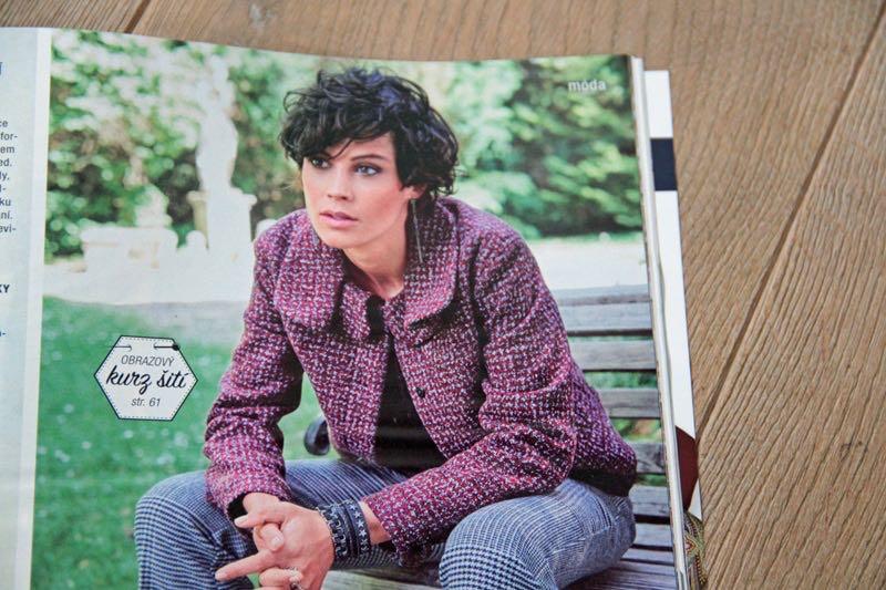 Burda 10/2017 - dámský kabátek - sako - blejzr