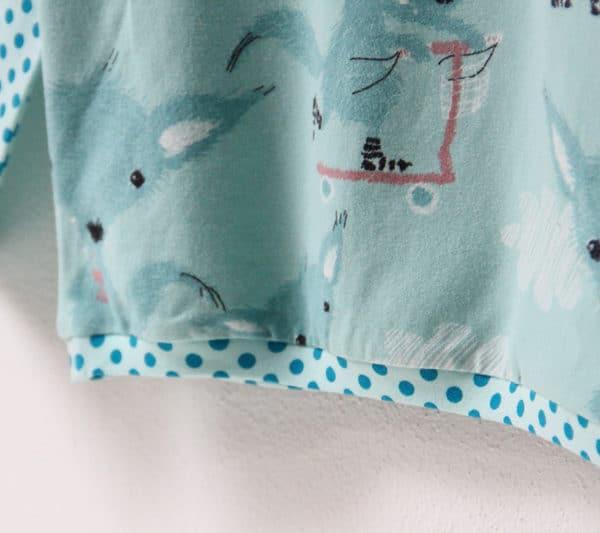 Střih na dětské triko s dlouhým rukávem