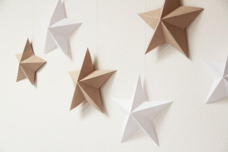 Návod na papírové hvězdy, vánoční dekorace