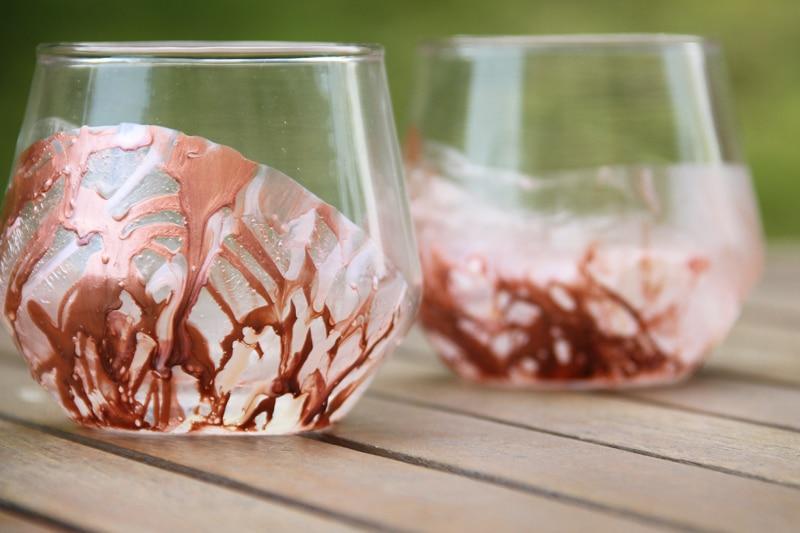 DIY nápady: originální skleničky