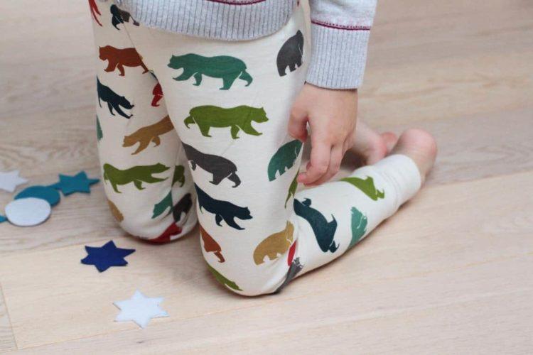 Medvědí legíny z BIO bavlny