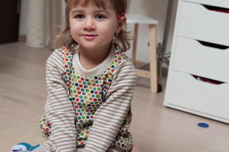 Dětská puntíkatá mikinka z BIO bavlny Birch Fabrics