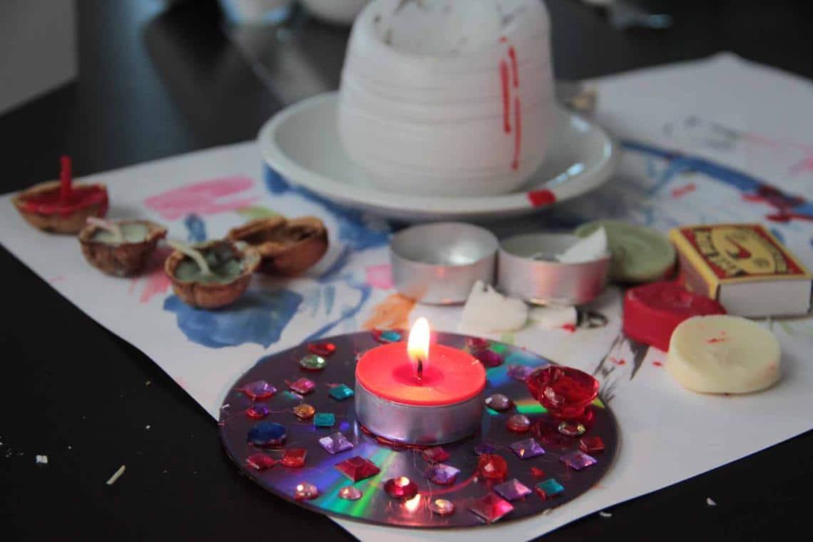 Terulčin vlastnoručně vyrobený svícen