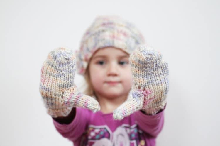 Návod na dětské pletené rukavice, palčáky
