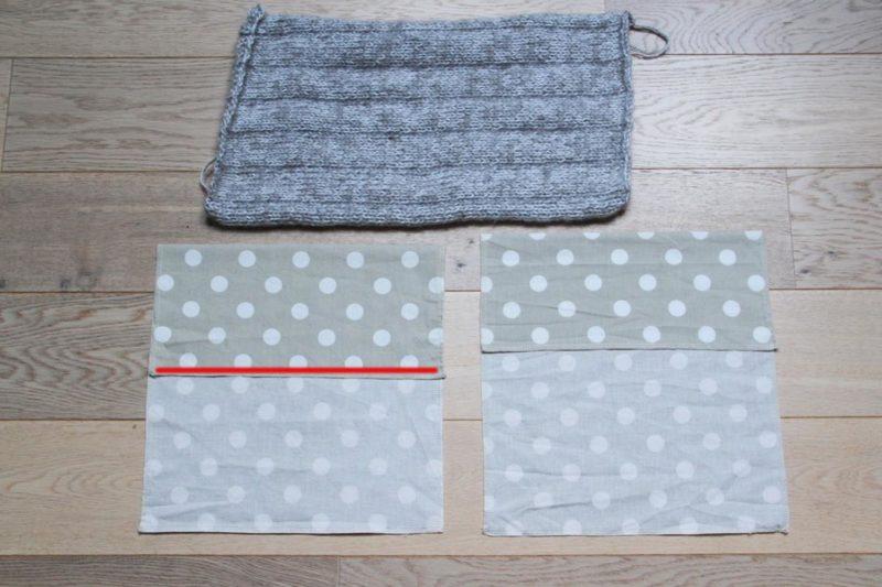 Návod jak uplést a ušít povlak na povlak na polštář - 03
