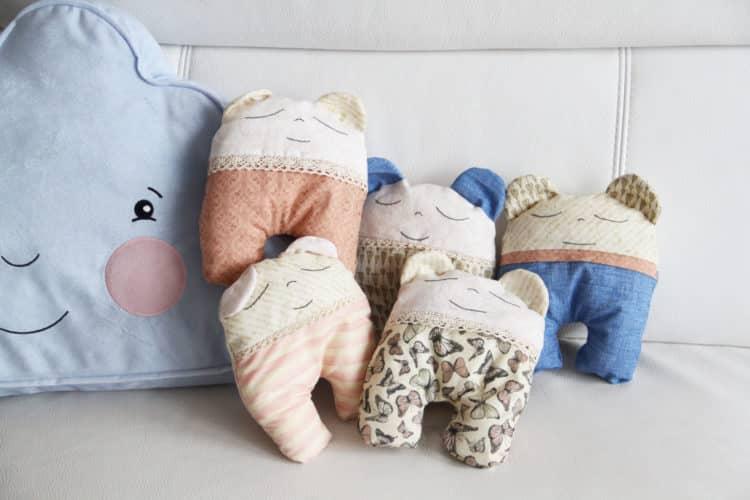 Handmade šité hračky pro malé děti miminka