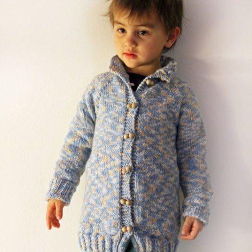 Návod na dětský pletený svetr