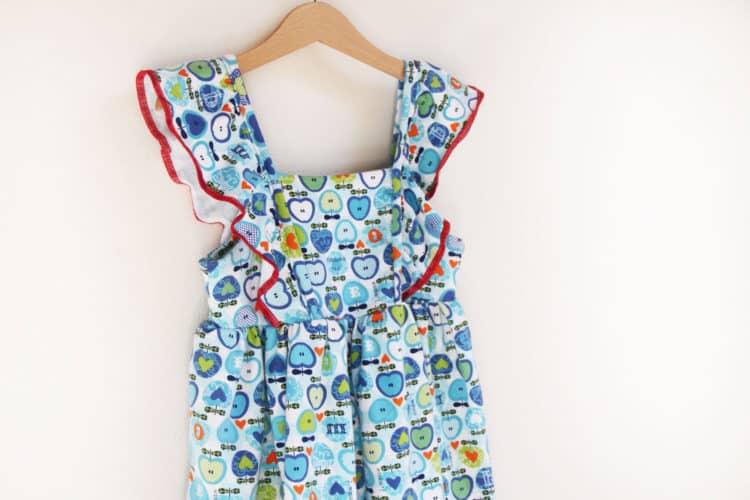 Dětské retro šatičky z bavlněného úpletu