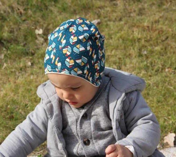 Dětská jarní či podzimní čepice pře uši z BIO bavlny