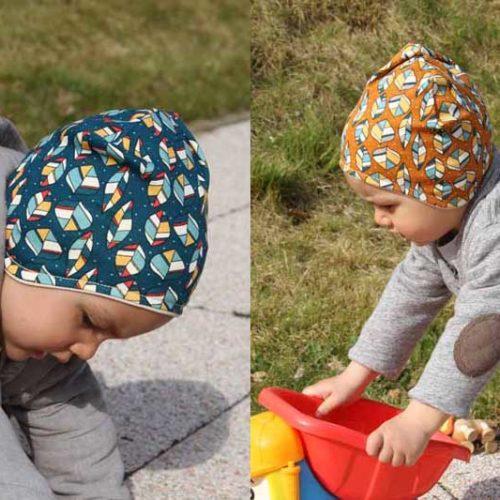 Dětská jarní či podzimní čepice přes uši z BIO bavlny