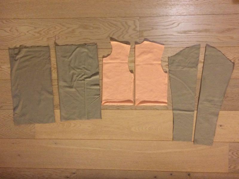 Střih na jednoduché dětské šaty (Návod jak ušít šaty)