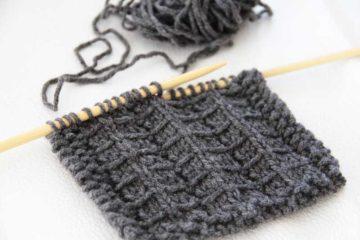 Návod na pletený stříškový vzor