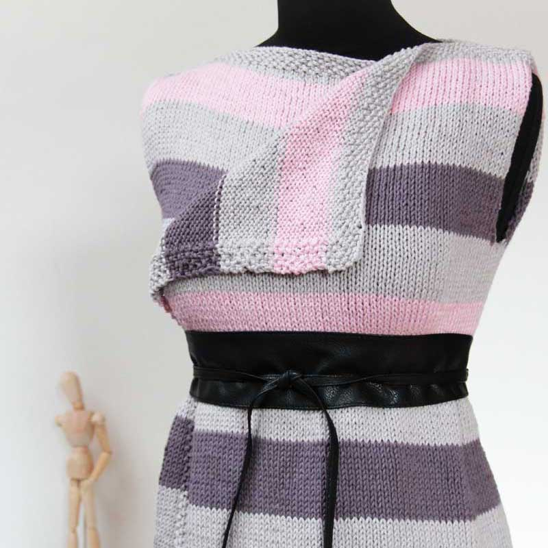 Návod na pletenou dámskou variabilní vestu