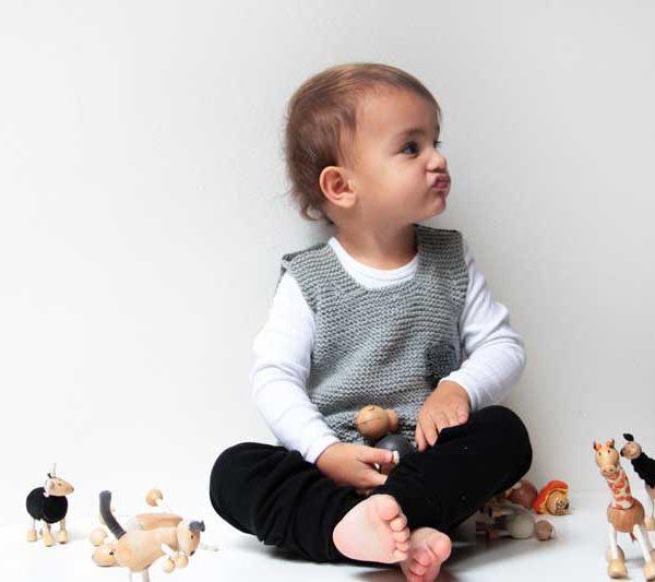 Návod na dětskou pletenou vestu