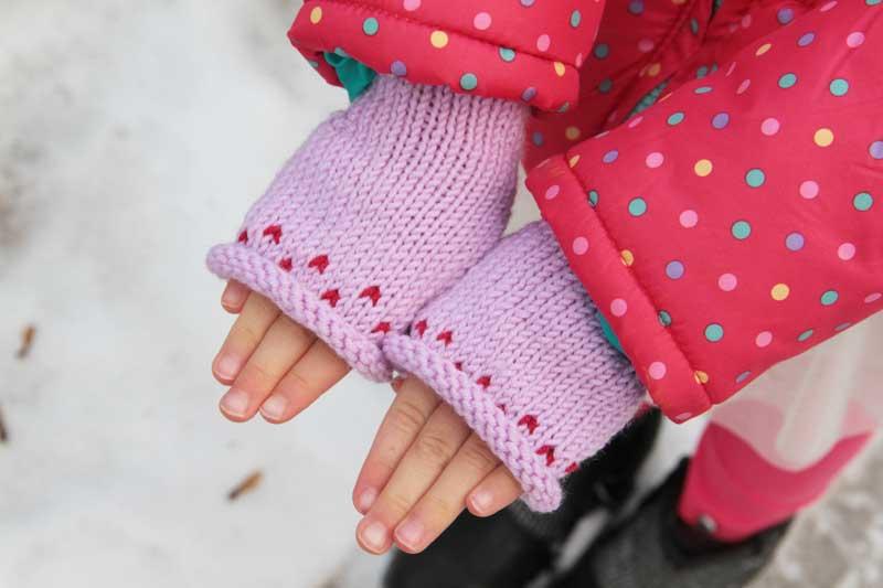 Návod na dětské pletené bezprstové rukavice