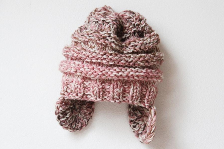 Pletená čepice s oušky - návod