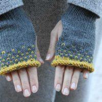 Návod na dámské pletené rukavice bez prstů