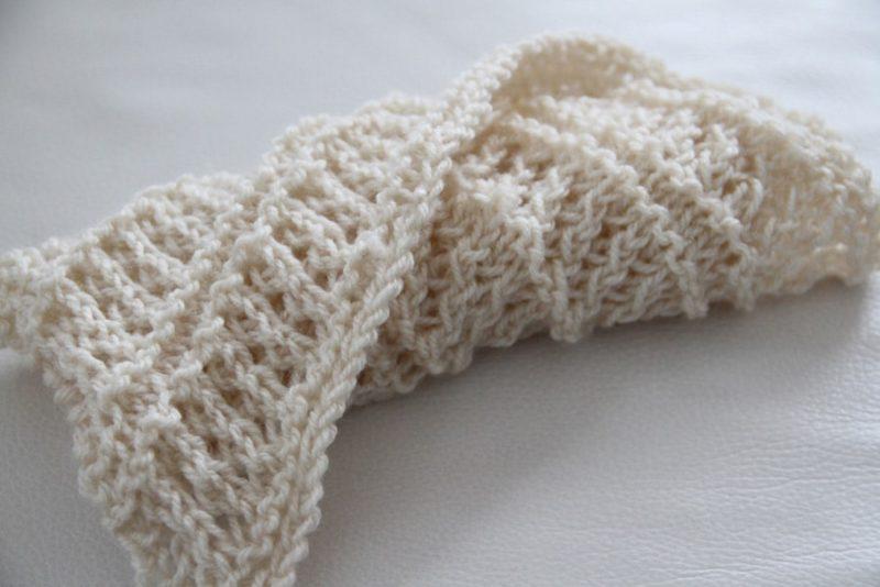 a033e53cabe Návod na pletený šátek (jednoduchý) - Prošikulky.cz