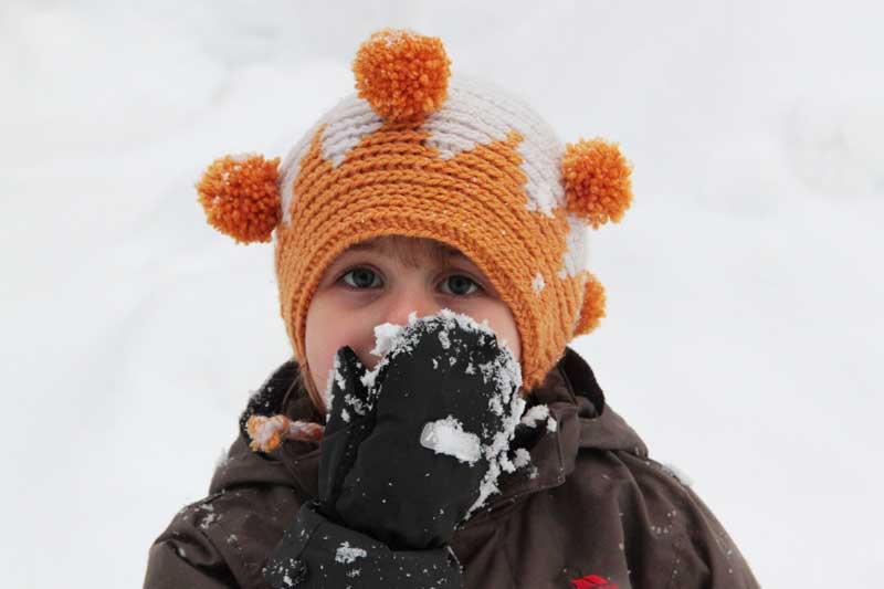 Návod na dětskou háčkovanou čepici - varianta pro malou princeznu