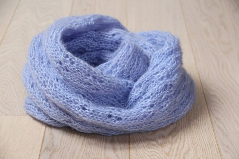 Pletená mohérová dutá šála