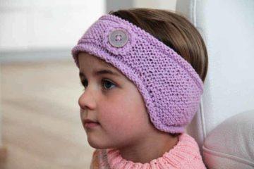 Návod na pletenou čelenku v dětské, dámské i pánské velikosti