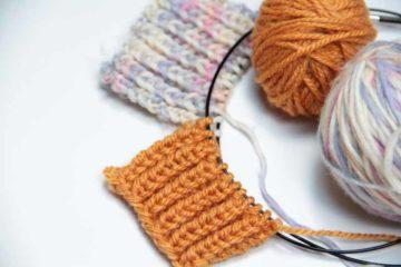 Návod na pletený pružný chytový vzor (nejen na patent). Angl. rioche