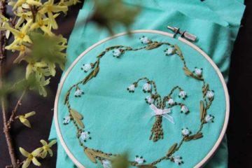 Jaro: Stužkové vyšívání - bledule nebo sneženky?