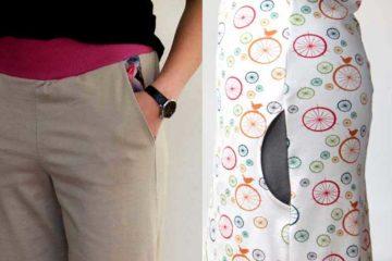 Jednoduchý střih na dámskou kapsu - klínovou a boční